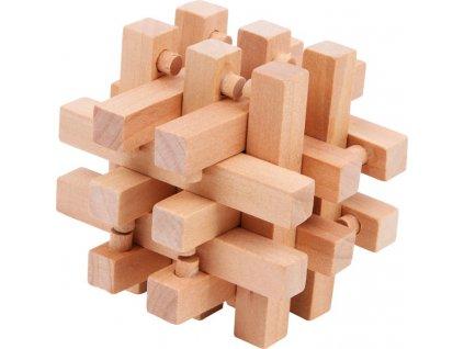 Dřevěný hlavolam Klec
