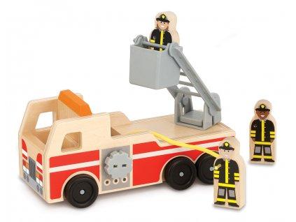 Dřevěné vozidlo Hasiči