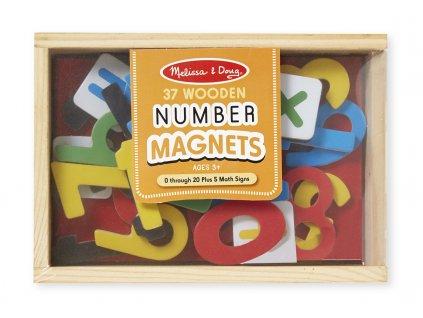 Magnetická dřevěná čísla