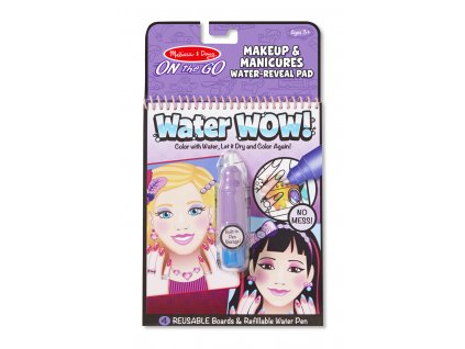 Vodní omalovánky - Make-up a Manikúra