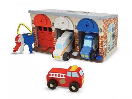 Záchranářská garáž se zámky