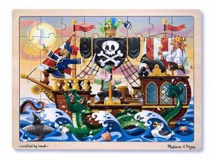 Dřevěné puzzle Piráti