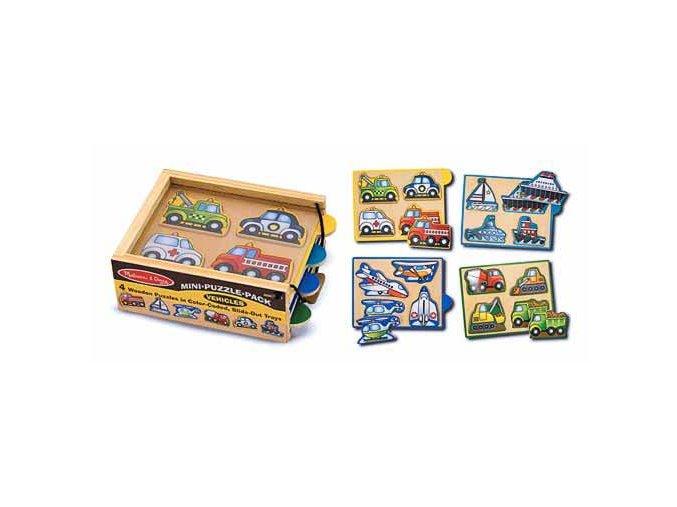 Mini puzzle v krabičce Doprava