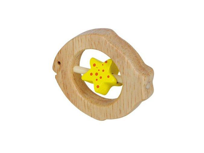 Dřevěné kousátko Ryba