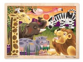 Dřevěné puzzle Afrika 24 ks