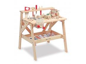Dřevěný pracovní stůl 37 x 71 x 13 cm