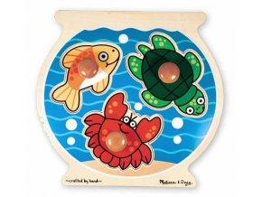 Jumbo puzzle Akvárium - masivní