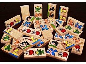 Domino ručně malované
