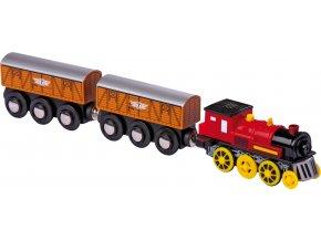 Elektrická lokomotiva se 2 vagony