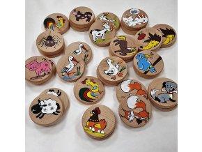 Dřevěné pexeso ručně malované 15