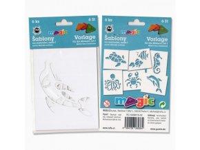 Papírové šablony Magic sada I Mořská zvířata