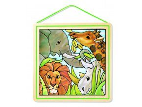 Skleněná vitráž - Safari