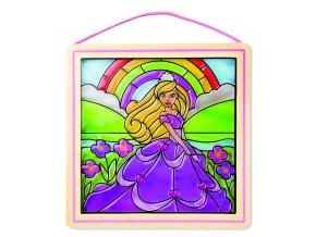 Skleněná vitráž - Princezna