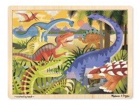 Dřevěné puzzle Dinosauři 24ks