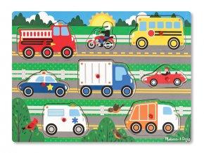 Dřevěná skládačka - Dopravní prostředky