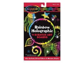 Škrábací holografické obrázky - Duha