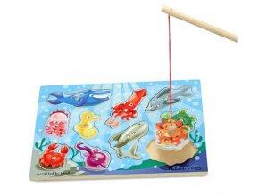 Magnetická dřevěná hra - Rybaření