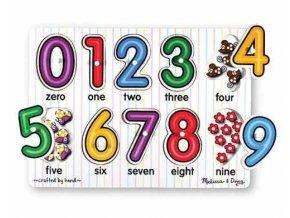 Vkládací puzzle čísla
