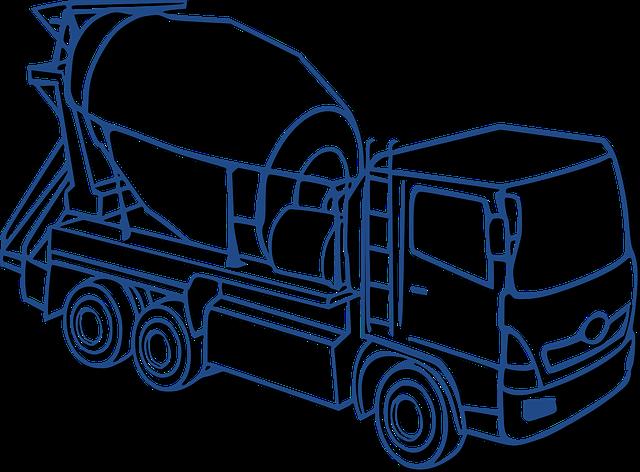 Nákladní auta a stavební stoje