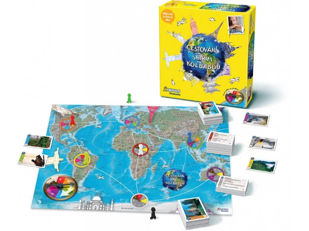 Společenská hra Cestování s Jirkou Kolbabou