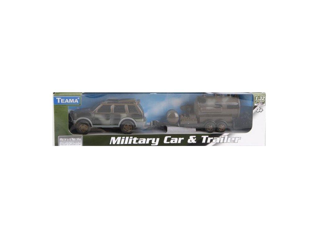 Vojenské auto s přívěsem 1:32