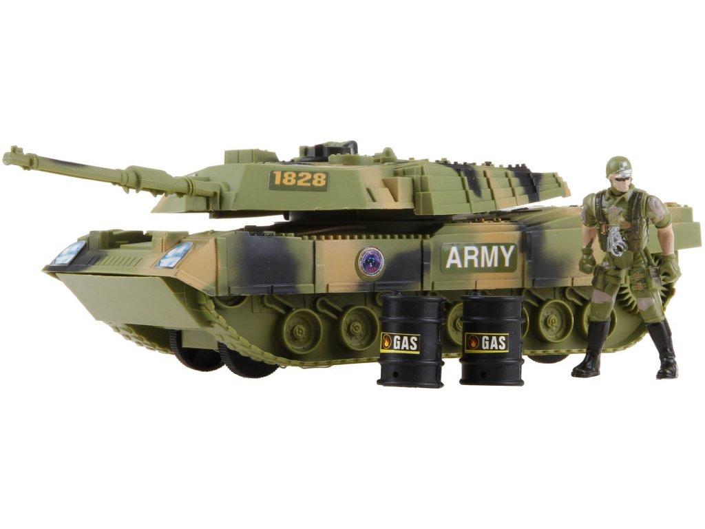 Tank vojenský s doplňky