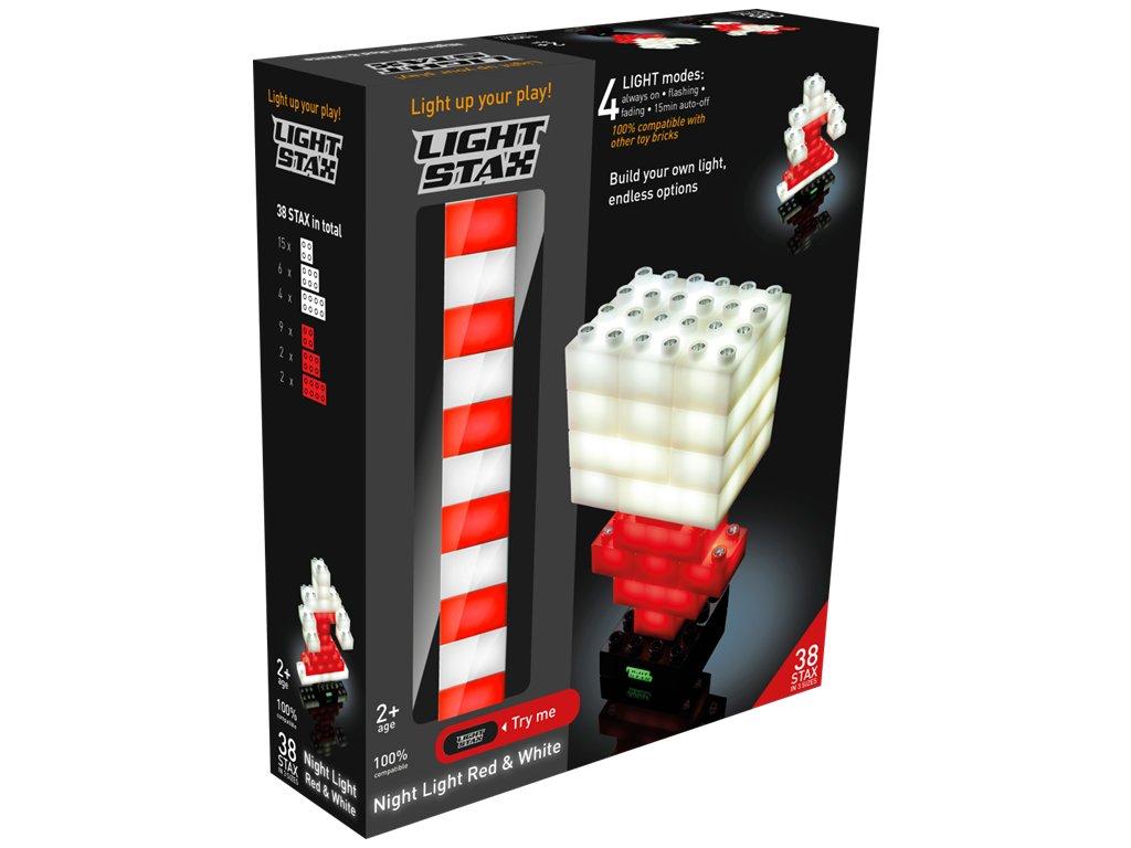 Stavebnice Light Stax 38 svítících kostek červeno bílých