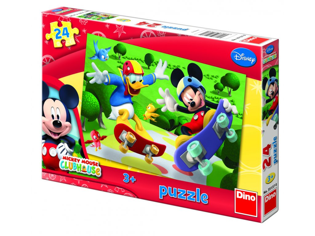 Puzzle Mickey na skateboardu
