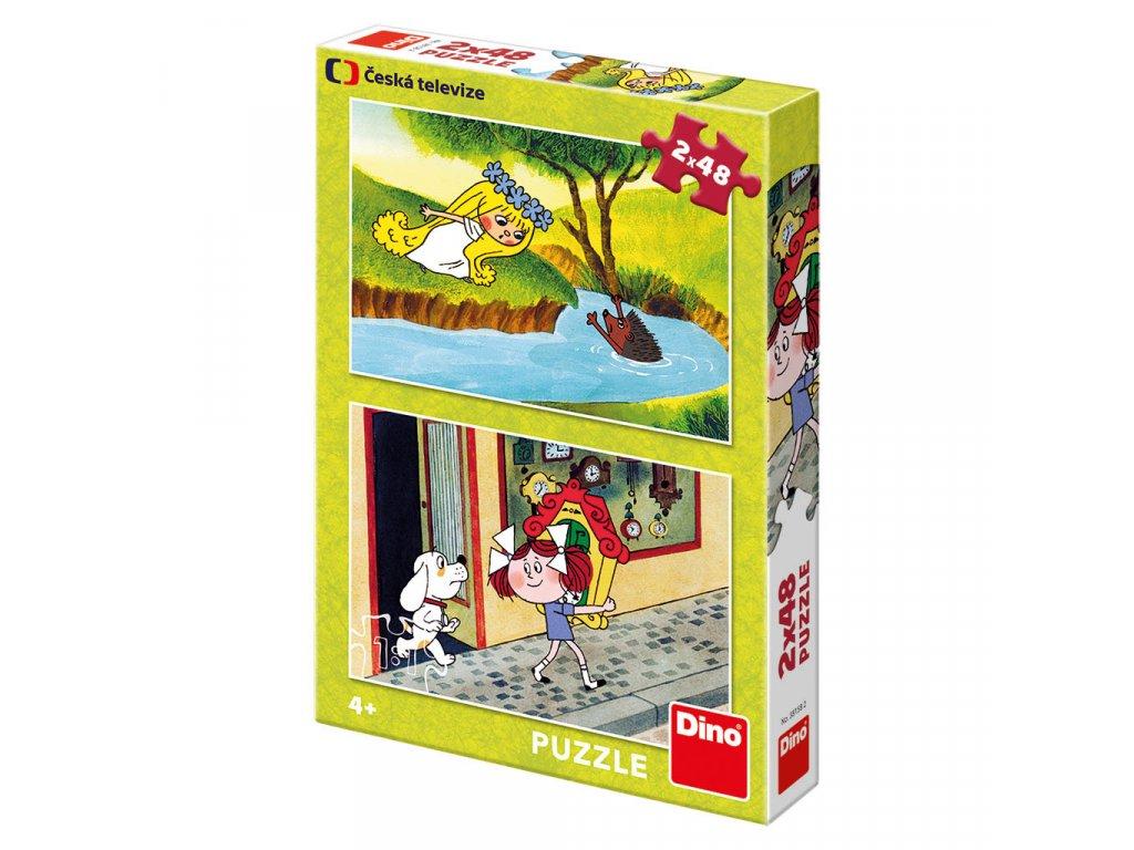 Puzzle 2x48 dílků: Holky z pohádky
