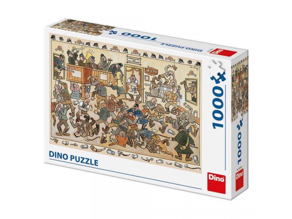 Puzzle 1000 dílků: Josef Lada Rvačka v hospodě