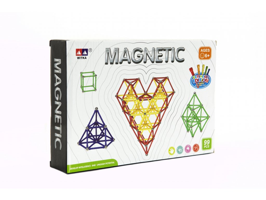 Magnetická stavebnice 99ks