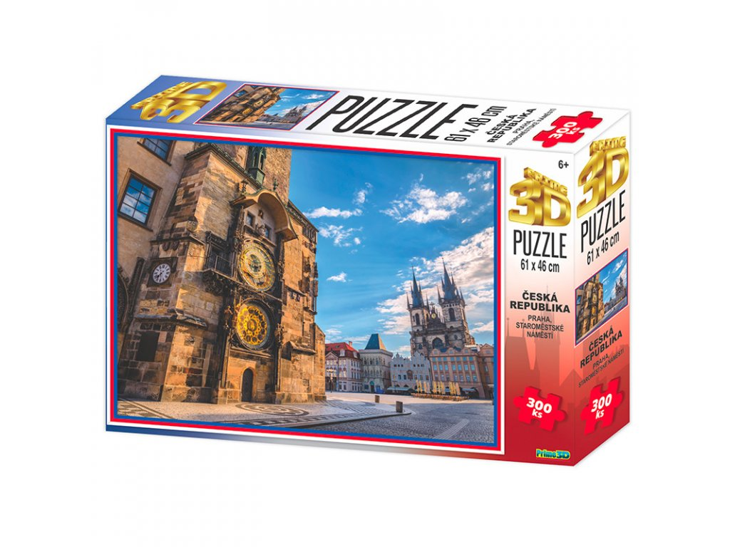 Puzzle 3D Praha Staroměstské náměstí 300 dílků