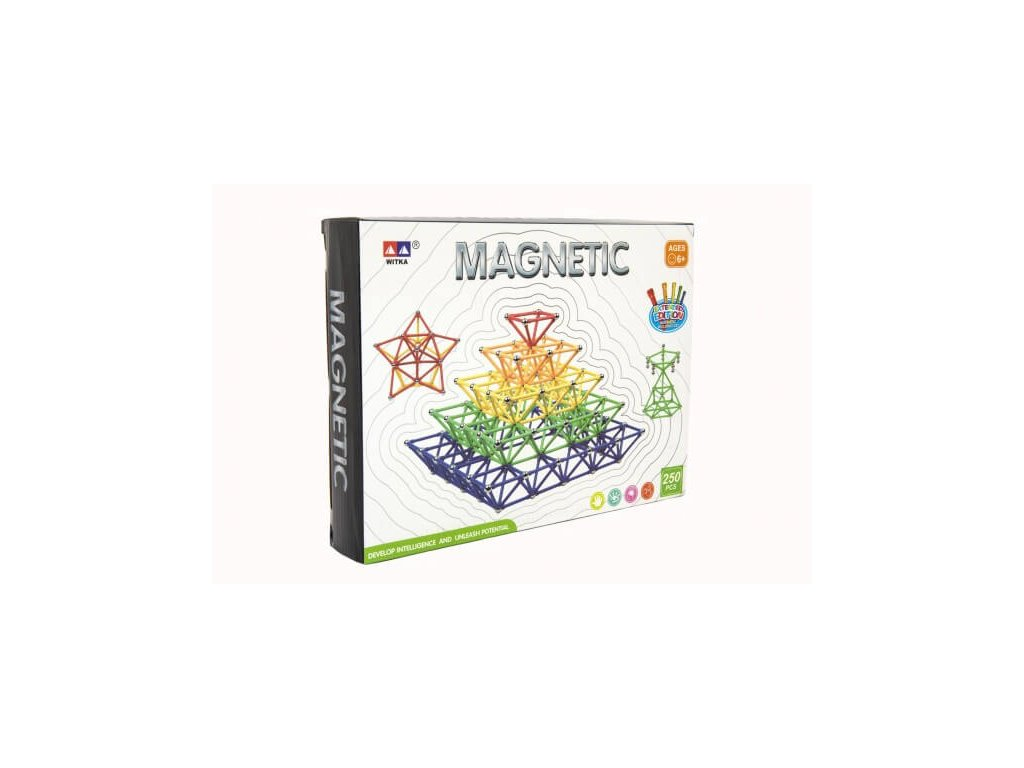 Magnetická stavebnice 250 ks