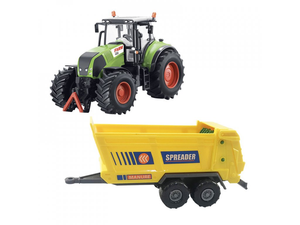 traktor s rozmetadlem