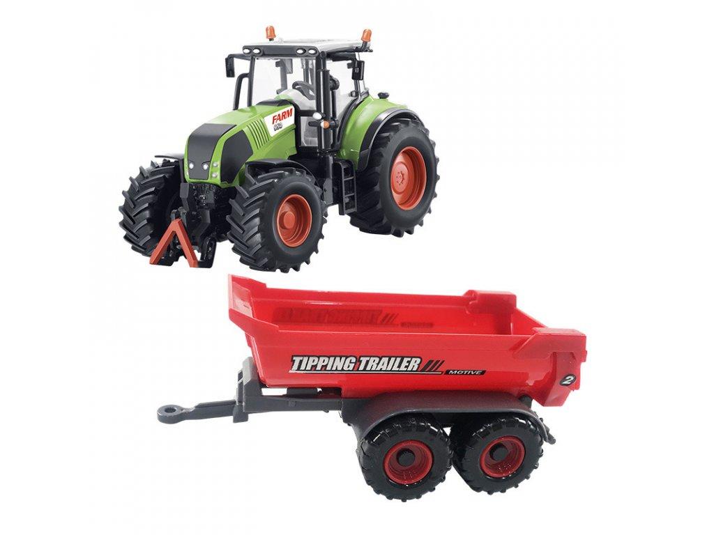 traktor se sklapecim valnikem
