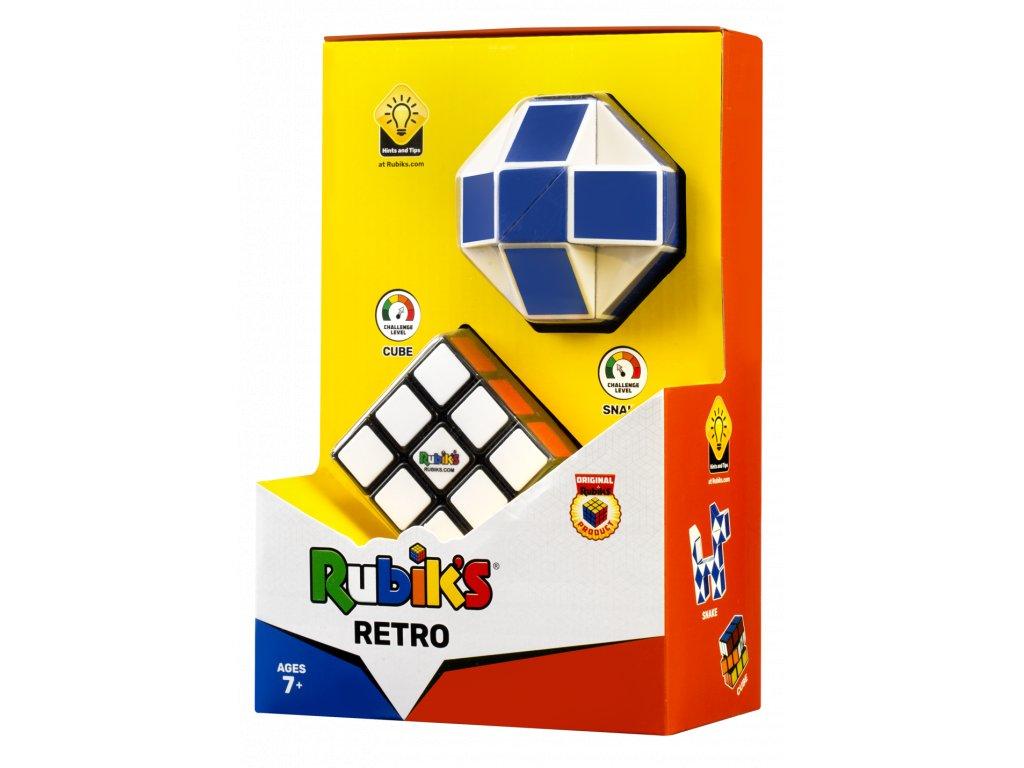 Rubikova kostka sada retro had + kostka 3x3x3