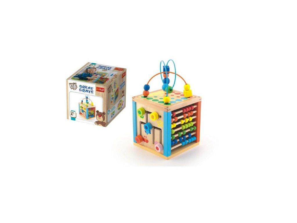 Edukační dřevěná kostka Wooden Toys