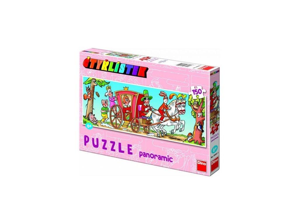 Panoramatické puzzle Čtyřlístek