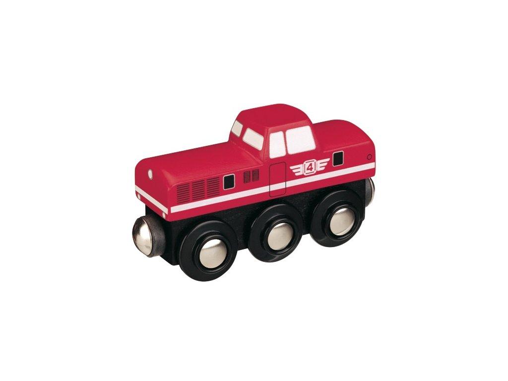 Dieselová lokomotiva - červená - Maxim 50815