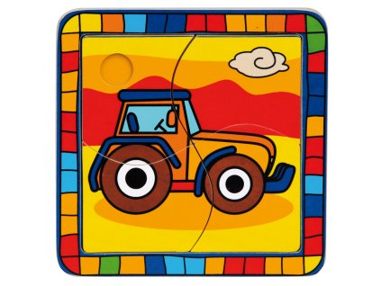 Vkládací puzzle Traktor