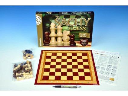 Šachy, dáma, mlýn