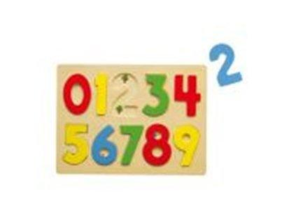 dřevěná vkládačka čísla