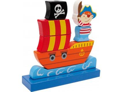 drevena piratska lod