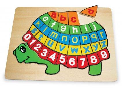 Vkladaci puzzle Zelva ABC