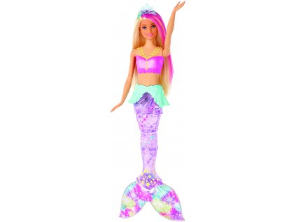 Barbie svítící mořská panna s pohyblivým ocasem běloška