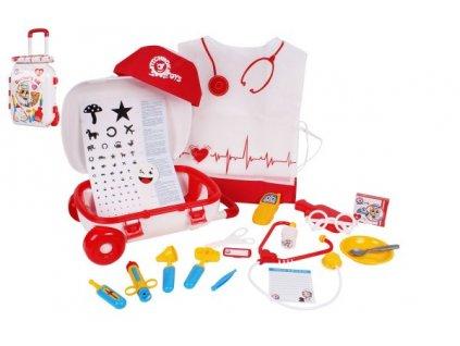 Sada doktor/lékař 21ks v plastovém kufříku na kolečkách