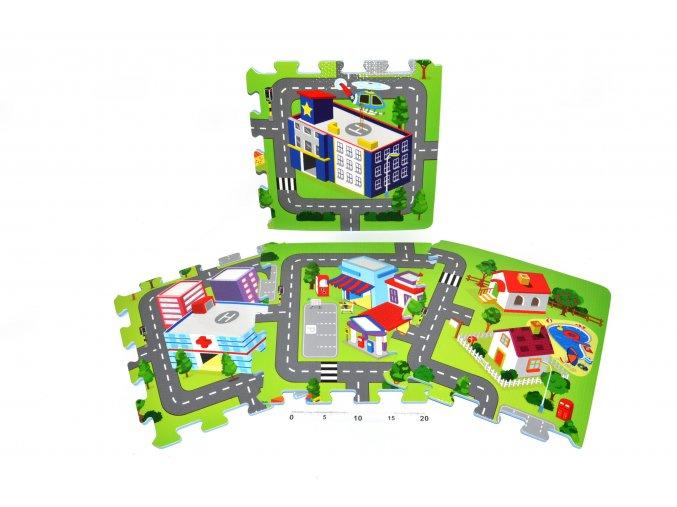 Pěnové puzzle Město
