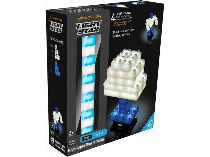 Stavebnice Light Stax 38 svítících kostek modro bílých
