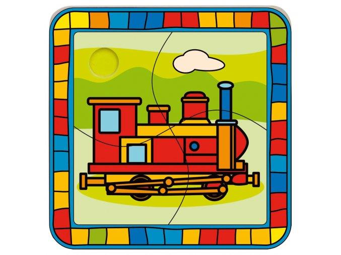 Vkládací puzzle Lokomotiva