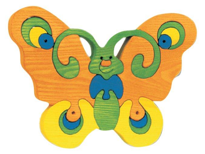 Velký motýl oranžový